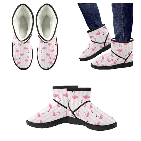 Flamingo Striped Low Top Snow Boots