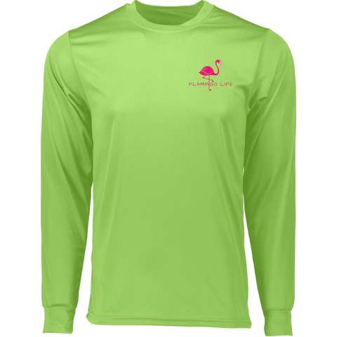 Flamingo Life Wicking Long Sleeve T-Shirt - The Flamingo Shop