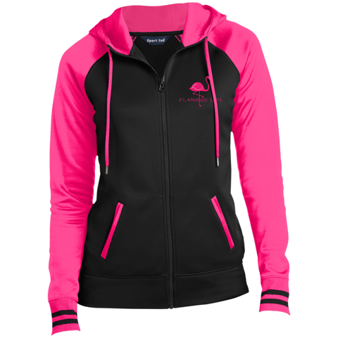 Flamingo Life Ladies' Moisture Wick Full-Zip Hooded Jacket