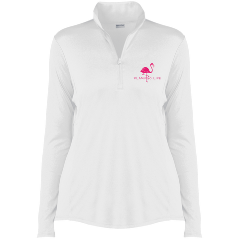 Flamingo Life Ladies' 1/4-Zip Pullover - The Flamingo Shop