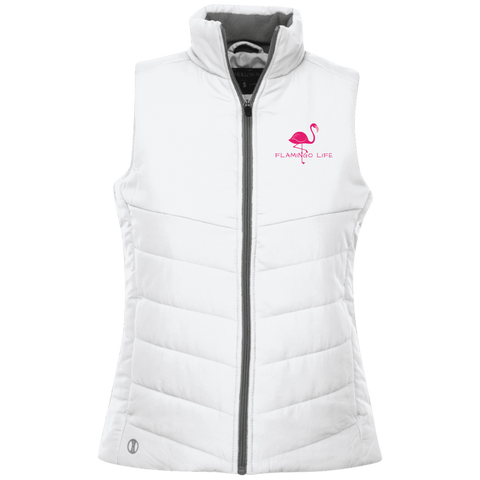 Flamingo Life Ladies' Quilted Vest - The Flamingo Shop