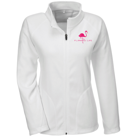 Flamingo Life Ladies' Full Zip Microfleece - The Flamingo Shop