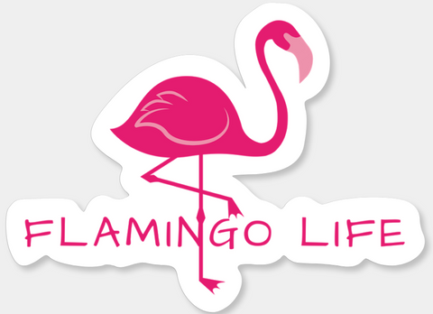 Flamingo Life® Vinyl Sticker