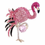 Flamingo Rhinestone Brooch with Austrian Crystal - The Flamingo Shop
