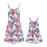Mother Daughter Matching Flamingos Dress