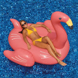 Giant Pink Flamingo 78-in Inflatable Ride-On Pool Toy - The Flamingo Shop