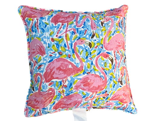 Outdoor Flamingo Pillow
