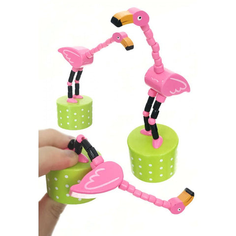Flamingo Push Puppet - The Flamingo Shop