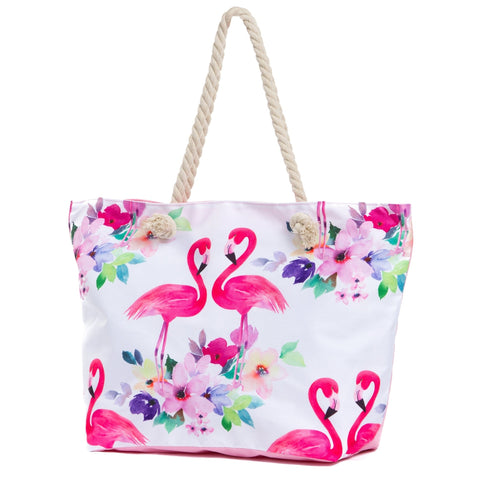 Flamingo Water Resistant Canvas Tote Bag - The Flamingo Shop