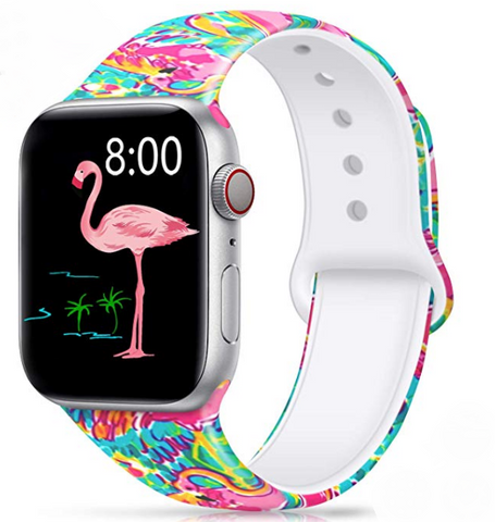 Flamingo Water Color Apple Watch Band