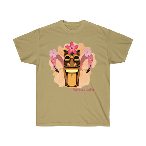Flamingo Life Tiki Head Unisex Ultra Cotton Tee