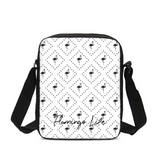 Flamingo Life Black and White Messenger Pouch - The Flamingo Shop