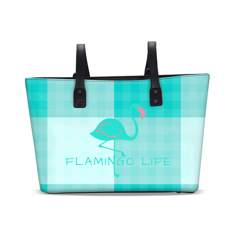 Flamingo Life Green Plaid Stylish Tote - The Flamingo Shop