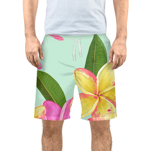 Tropical Flowers Men's Swim Trunk