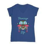 Flamingo Life Classic Women's V-Neck T-Shirt - The Flamingo Shop