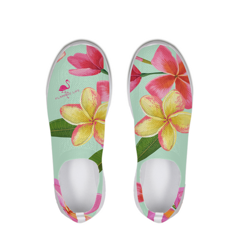Flamingo Life Tropical Flowers Slip-On Flyknit Shoe - The Flamingo Shop