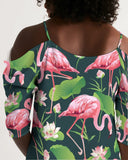 Pretty Flamingos Women's Open Shoulder A-Line Dress - The Flamingo Shop