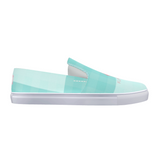 Flamingo Life Green Plaid Slip-On Canvas Mens and Womens Shoes - The Flamingo Shop