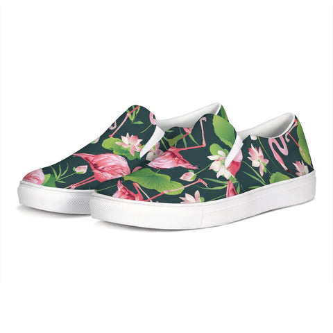 Pretty Flamingos Slip-On Canvas Shoes in Mens and Womens - The Flamingo Shop