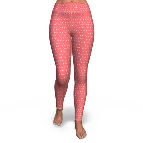 Flamingo Life Microfiber Flamingo and Dots Yoga Pants - The Flamingo Shop