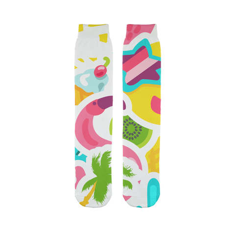 Happy Flamingo Tube Socks - The Flamingo Shop