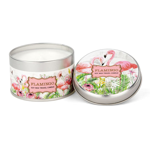 Michel Design Works Flamingo Travel Candle - The Flamingo Shop