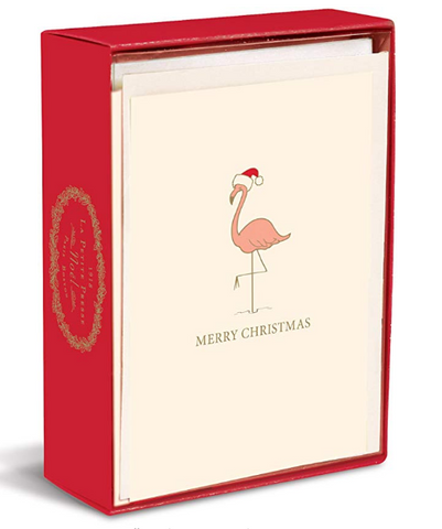 Flamingo Christmas Boxed Cards