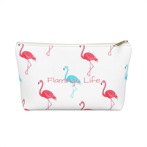Flamingo Life Accessory or Makeup Pouch w T-bottom - The Flamingo Shop