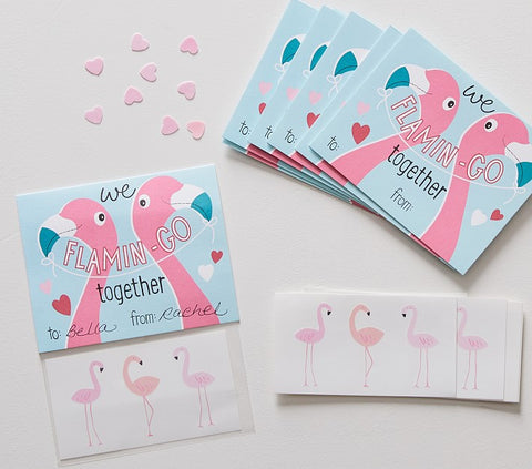 Classroom Valentine's Cards with Temporary Tattoos - The Flamingo Shop
