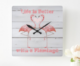 Flamingo Acrylic Wall Clock - The Flamingo Shop