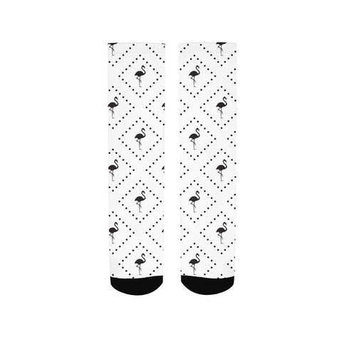 Flamingo Life Black and White Men's Socks - The Flamingo Shop