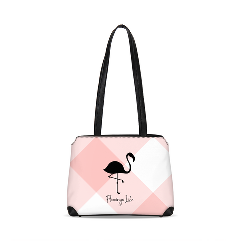 Flamingo Life Pink Plaid Shoulder Bag - The Flamingo Shop