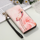 Flamingo Wristlet Wallet Zipper Clutch Purse