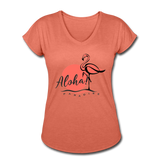 Aloha Paradise Flamingo Womens T-Shirt - The Flamingo Shop