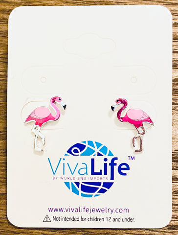 Flamingo Stud Earrings - The Flamingo Shop