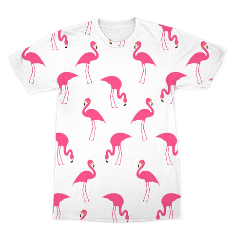 White Flamingos T-Shirt - The Flamingo Shop