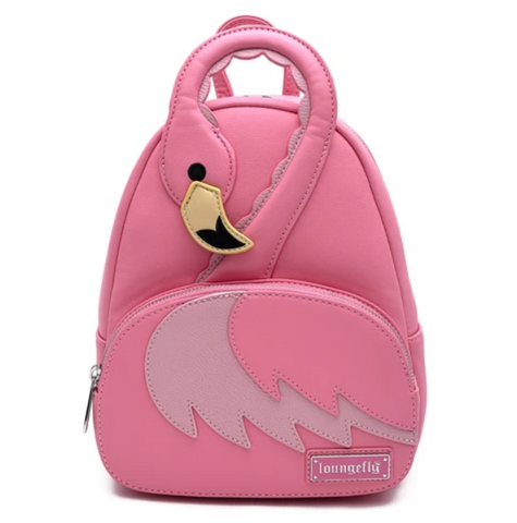 LOUNGEFLY POOL PARTY LIMITED EDITION FLAMINGO MINI BACKPACK