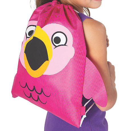 Flamingo Face Backpack with Wings - The Flamingo Shop