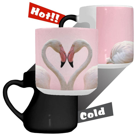 Changing Hot/Cold Mug - Flamingo Love - The Flamingo Shop