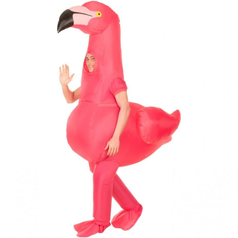 Inflatable  Flamingo Air Blown Costume - The Flamingo Shop