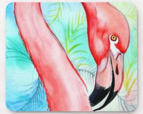 Pretty Flamazing Mouse Pad - The Flamingo Shop