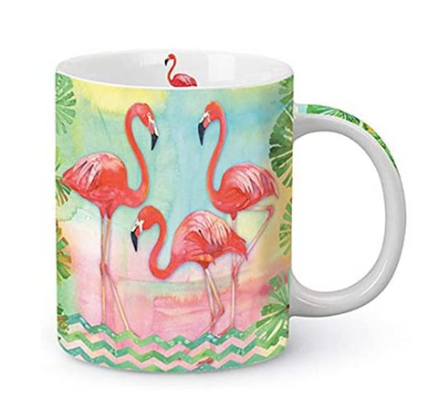 Watercolor Flamingo Mug by Cape Shore