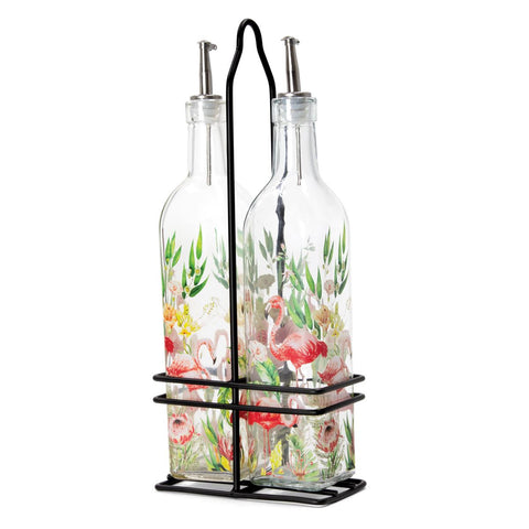 Michel Design Works Flamingo Oil and Vinegar Cruet Set - The Flamingo Shop