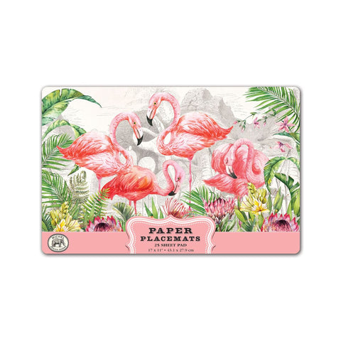 Flamingo Paper Placemats - Michel Design Works