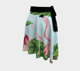 Flamingo and Palm Trees Wrap Skirt - The Flamingo Shop