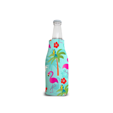 Zippered Flamingo Bottle Cooler - The Flamingo Shop