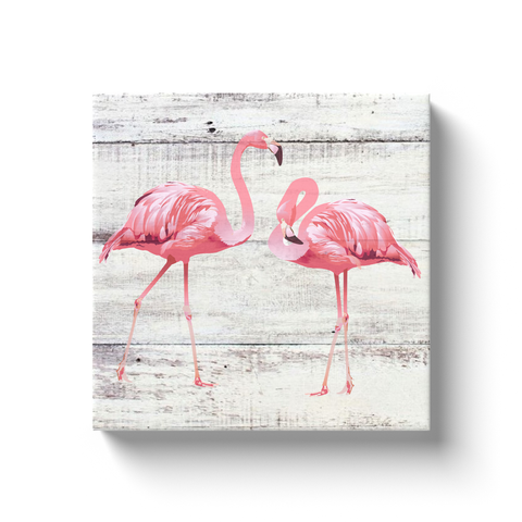 Flamingo Driftwood Canvas Wrap
