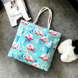 Flamingo Beach Tote with Rope Handle - The Flamingo Shop