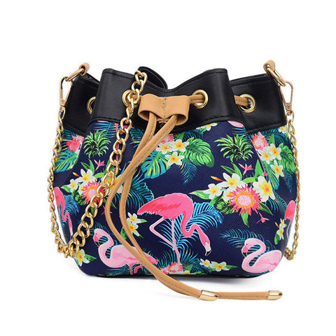 Drawstring Flamingo Bucket Bag - The Flamingo Shop