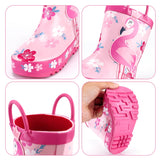 Girls Flamingo Rain Boots
